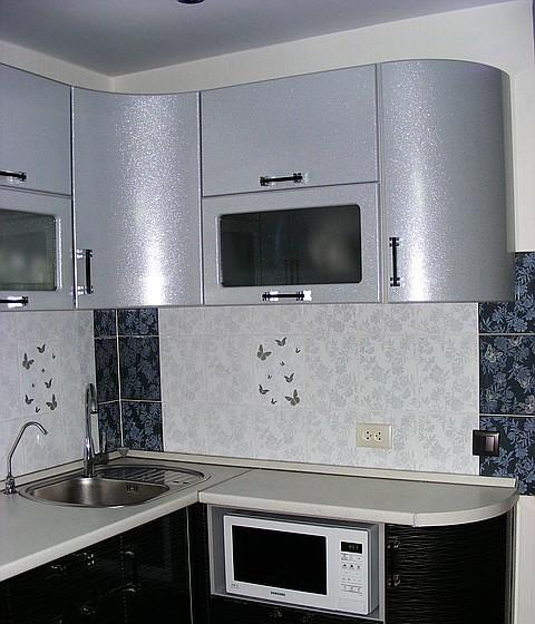 результате кухни серебристый металлик фото предыдущих двух