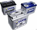 Аккумуляторы VARTA BLACK, BLUE, SILVER Dynamic, от 40 до 225 А/