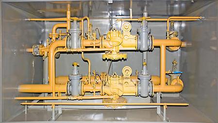 Газорегуляторный пункт ГРПШ-15-2В-У1 с измерительным комплексом СГ-ЭКВз-Р-650/1,6