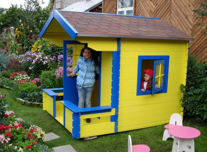 Домик для детей на даче своими руками чертежи 616